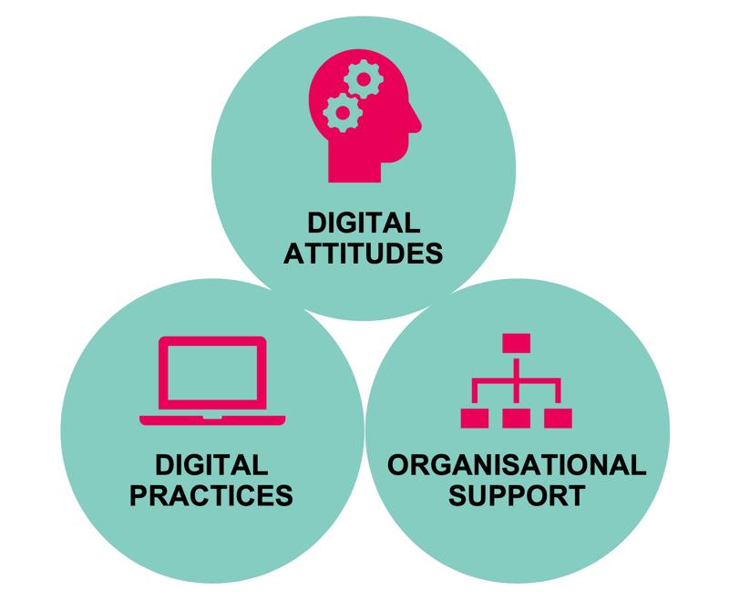Digital Attitudes, Digital Practices & Organisational support